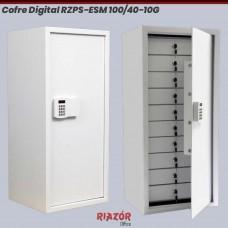 Cofre Digital RZPS-ESM 100/40 10G com 10 gavetas