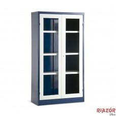 Armário de aço Médio com porta para vidro RZMT/ACH-2V-M