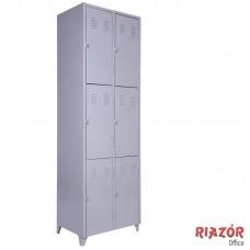 Armário em Aço com 6 portas médias RZMT/6M