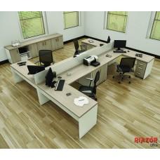 """Plataforma de trabalho 4 lugares em """"C"""" RZMV/PRI-40"""