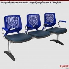 Longarina 3 lugares Encosto em Polipropileno – RZPM/BZI