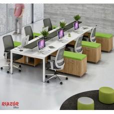 Plataforma de Trabalho 6 lugares RZMV/WPA C/ armário Futon