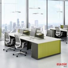 Plataforma de trabalho 4 lugares RZMV/WPA C/ Armário PVC