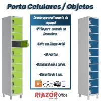 Armário para celular e porta objetos em aço com 10 portas – RZW/PO10P
