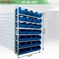 Estante com gavetas plásticas modular Bin 28/7