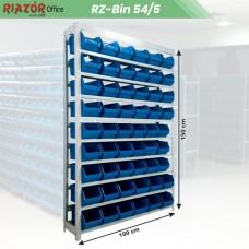 Estante com gavetas plásticas modular Bin 54/5