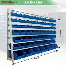 Estante com gavetas plásticas modular Bin 82 mista