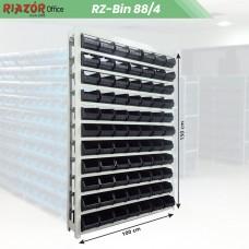 Estante com gavetas plásticas modular Bin 88/4