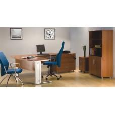 Mesa de Escritório Presidente com gaveteiro para pastas RZMV-MX18