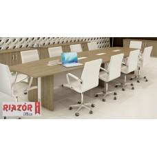 Mesa de reunião pé painel semi-oval RZMV/ATT