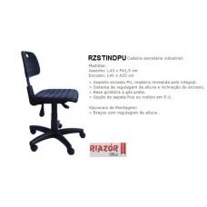 Cadeira Secretária Industrial Assento Encosto PU - RZSTINDPU