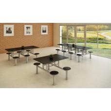 Mesa para refeitório com banqueta acoplada RZMV