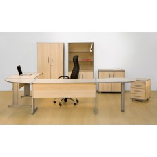 Mesa de Escritório em L conexão em Leque RZMV/TR18