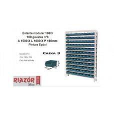 Estante com gavetas plásticas modular Bin 108/3