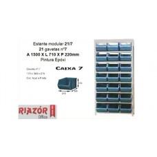 Estante com gavetas plásticas modular Bin 21/7