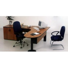 Mesa de Escritório Delta Península RZMV/MX c/Armário