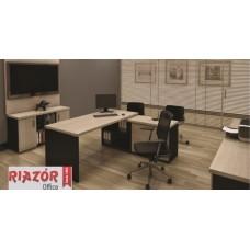 """Mesa Diretoria em """"L"""" com Armário RZMV/PRI-40"""